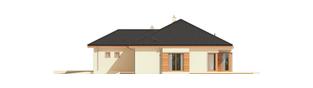 Projekt domu Eris G2 (wersja C) MULTI-COMFORT - elewacja prawa