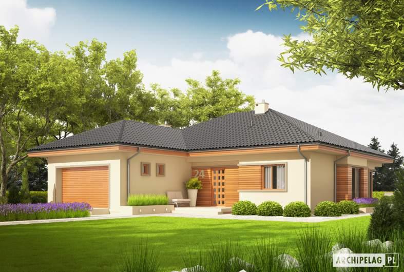 Projekt domu Eris G2 (wersja C) MULTI-COMFORT - wizualizacja frontowa