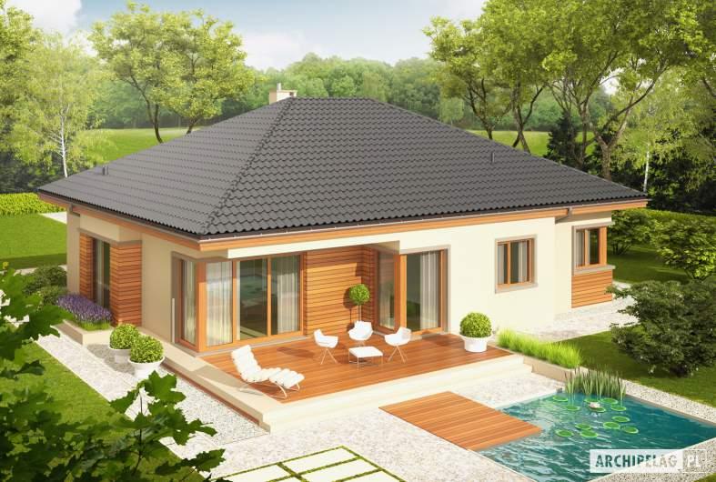 Projekt domu Eris G2 (wersja C) MULTI-COMFORT - widok z góry