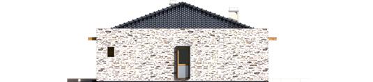 Marlonas G1 A++ - Projekt domu Marlon G1 - elewacja prawa