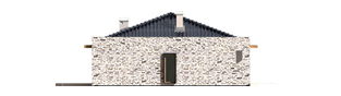 Projekt domu Marlon G1 - elewacja lewa