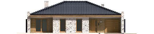 Marlonas G1 A++ - Projekt domu Marlon G1 - elewacja frontowa