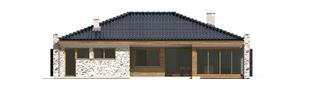 Projekt domu Marlon G1 - elewacja tylna