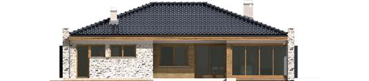 Marlonas G1 A++ - Projekt domu Marlon G1 - elewacja tylna