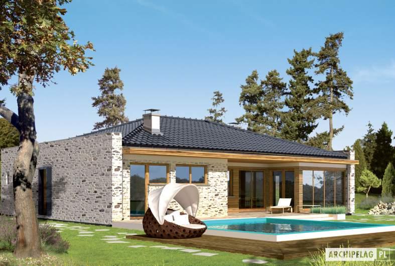 Projekt domu Marlon G1 - wizualizacja ogrodowa