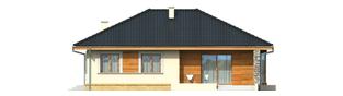 Projekt domu Franczi - elewacja tylna