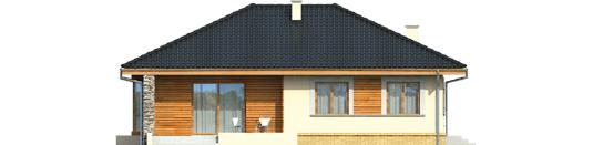 Francis - Projekt domu Franczi - elewacja tylna