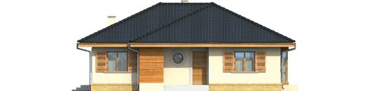 Francis - Projekt domu Franczi - elewacja frontowa