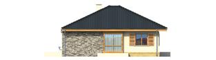 Projekt domu Franczi - elewacja lewa