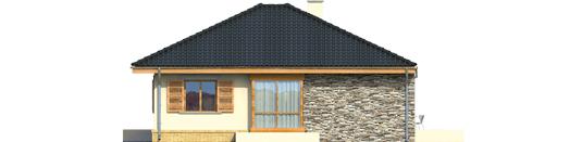 Francis - Projekt domu Franczi - elewacja lewa