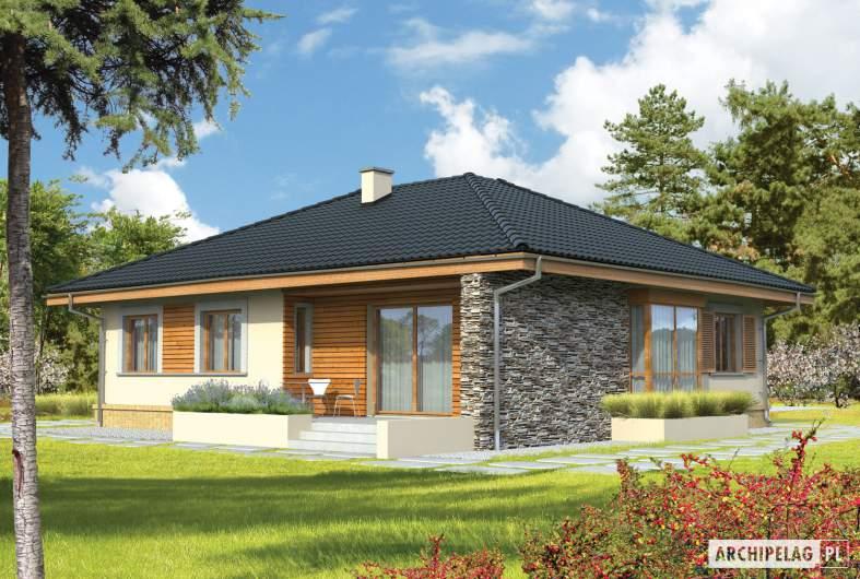 Projekt domu Franczi - wizualizacja ogrodowa