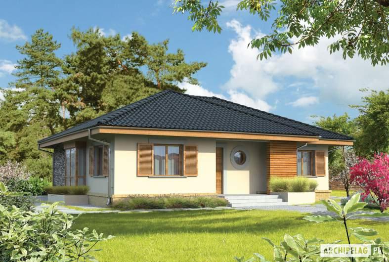 Projekt domu Franczi - wizualizacja frontowa