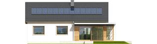 Projekt domu Emi ENERGO PLUS - elewacja tylna