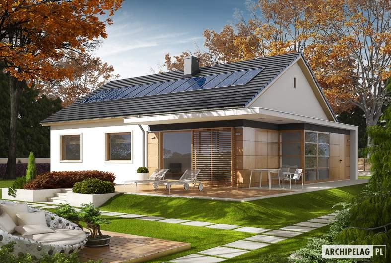 Projekt domu Emi ENERGO PLUS - Projekty domów ARCHIPELAG - Emi ENERGO PLUS - wizualizacja ogrodowa