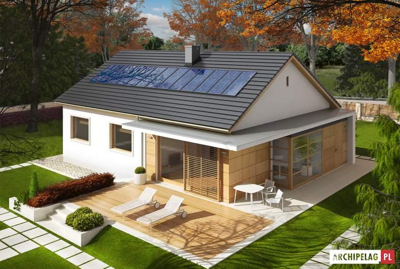 Projekt domu Emi ENERGO PLUS - Projekty domów ARCHIPELAG - Emi ENERGO PLUS - widok z góry