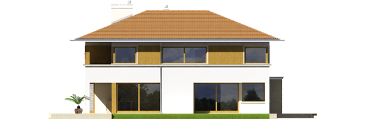 Дієго ІІ (Г2) - Projekt domu Diego II G2 - elewacja lewa