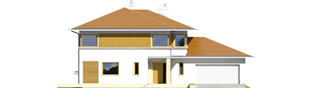 Projekt domu Diego II G2 - elewacja frontowa