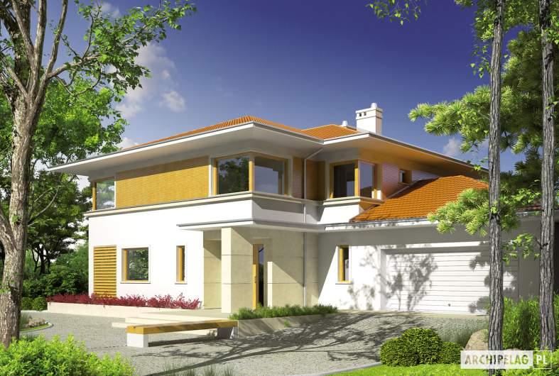 Projekt domu Diego II G2 - wizualizacja frontowa