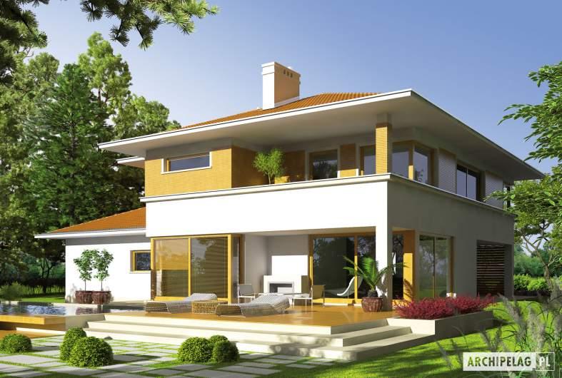Projekt domu Diego II G2 - wizualizacja ogrodowa