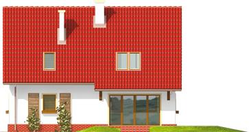 Pelagija G1 - Projekt domu Pelagia G1 - elewacja tylna