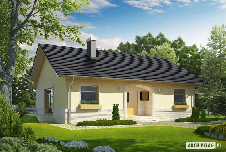 Projekt domu Erin II - wizualizacja frontowa