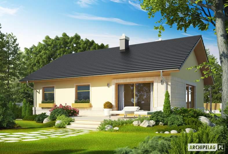 Projekt domu Erin II - wizualizacja ogrodowa