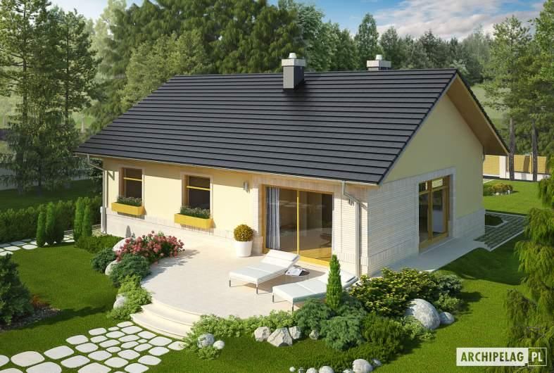 Projekt domu Erin II - widok z góry