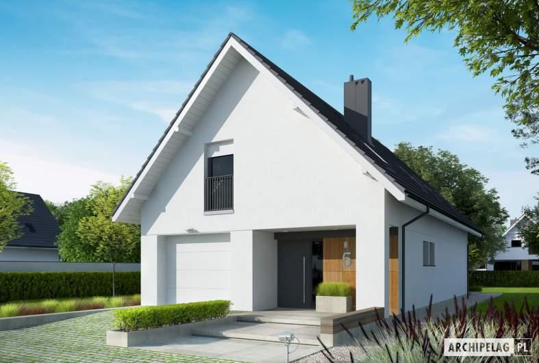 Projekt domu Riko G1 - Projekty domów ARCHIPELAG - Riko G1 - wizualizacja frontowa