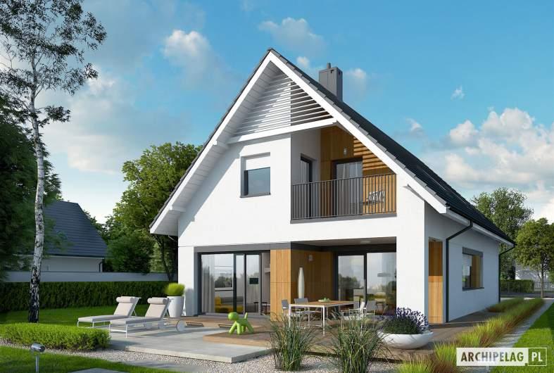 Projekt domu Riko G1 - Projekty domów ARCHIPELAG - Riko G1 - wizualizacja ogrodowa