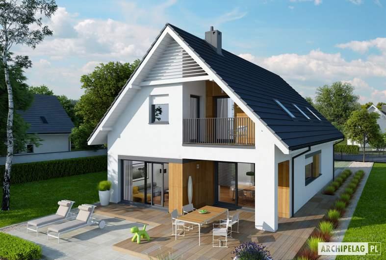 Projekt domu Riko G1 - Projekty domów ARCHIPELAG - Riko G1 - widok z góry