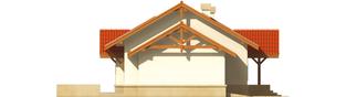 Projekt domu Marcysia G1 - elewacja lewa