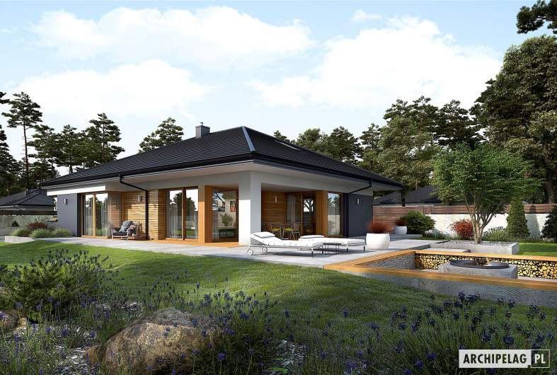 Projekt domu Tanita G2 - wizualizacja ogrodowa