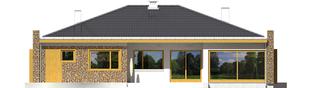Projekt domu Marlon III G1 - elewacja tylna