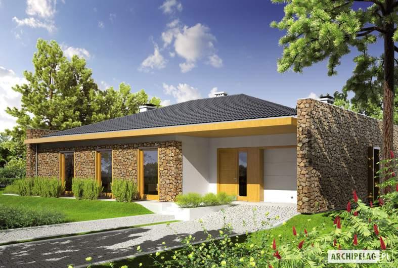 Projekt domu Marlon III G1 - wizualizacja frontowa