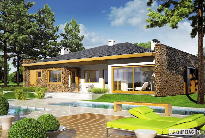 Projekt domu Marlon III G1 - wizualizacja ogrodowa