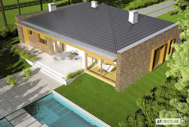 Projekt domu Marlon III G1 - widok z góry