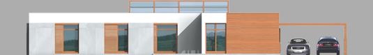 Leon - Projekt domu Leon (z wiatą) - elewacja frontowa