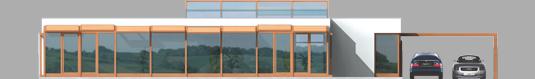 Leon - Projekt domu Leon (z wiatą) - elewacja tylna