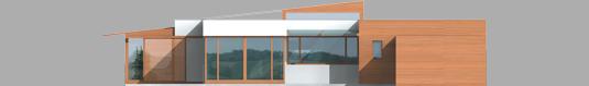 Leon - Projekt domu Leon (z wiatą) - elewacja lewa