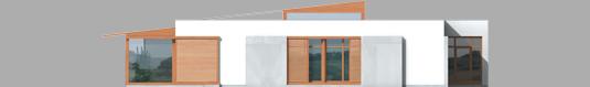 Leon - Projekt domu Leon (z wiatą) - elewacja prawa