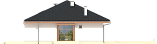 Projekt domu Franczi II G1 ECONOMIC (wersja A) - elewacja lewa