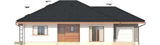 Projekt domu Franczi II G1 ECONOMIC (wersja A) - elewacja frontowa