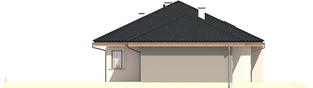 Projekt domu Franczi II G1 ECONOMIC (wersja A) - elewacja prawa