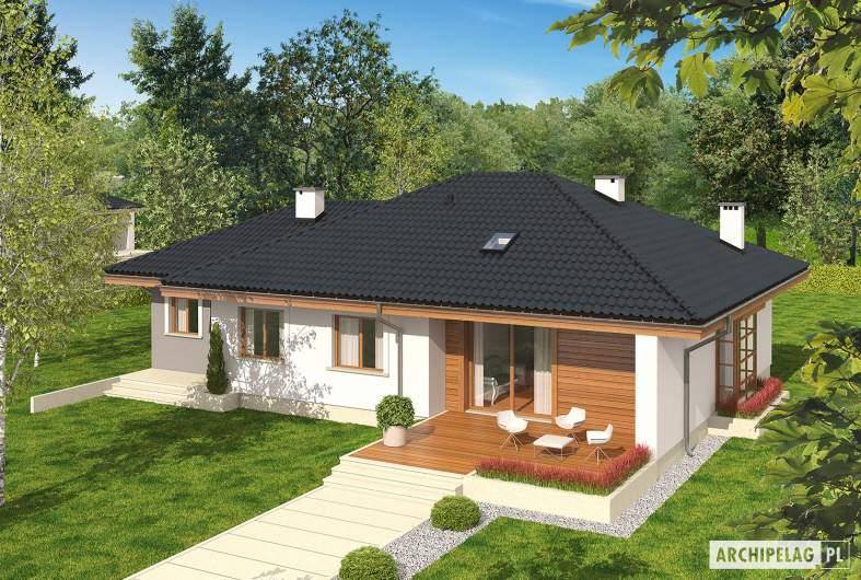 Projekt domu Franczi II G1 ECONOMIC (wersja A) - widok z góry