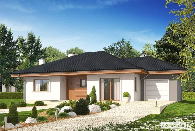 Projekt domu Franczi II G1 ECONOMIC (wersja A) - wizualizacja frontowa