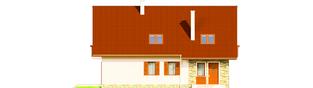 Projekt domu Anulka II G1 - elewacja tylna