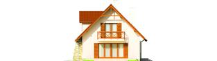 Projekt domu Anulka II G1 - elewacja prawa