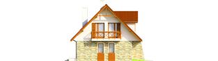 Projekt domu Anulka II G1 - elewacja lewa
