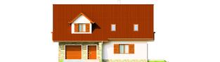 Projekt domu Anulka II G1 - elewacja frontowa