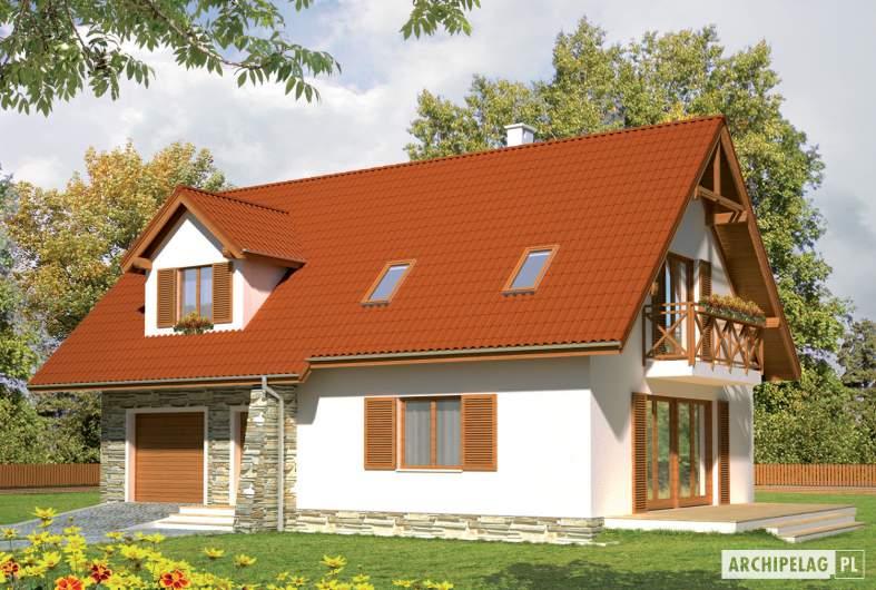 Projekt domu Anulka II G1 - wizualizacja frontowa prawa
